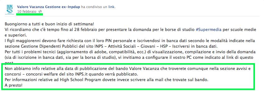 Bando Valore vacanza 2014: quando esce? -