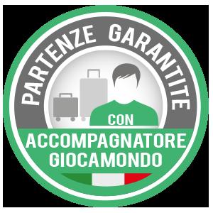 PARTENZE GARANTITE CON ACCOMPAGNATORE GIOCAMONDO