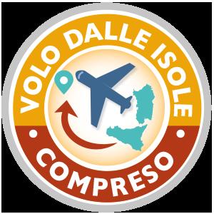 VOLO AEREO DALLA ISOLE E DALLA CALABRIA COMPRESO