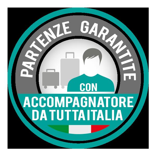 PARTENZE GARANTITE DA TUTTA ITALIA CON ACCOMPAGNATORE GIOCAMONDO