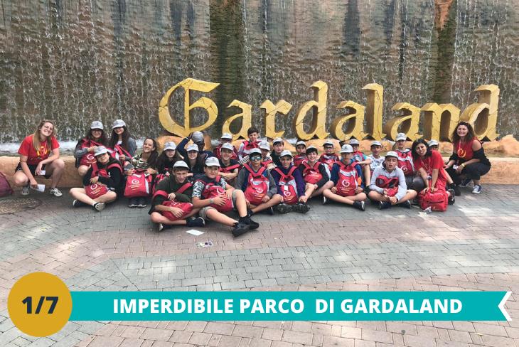 Il fantastico parco Gardaland:una intera giornata dove i ragazzi potranno divertirsi tra le numerose attività ed i tantissimi giochi presenti all'interno del parco