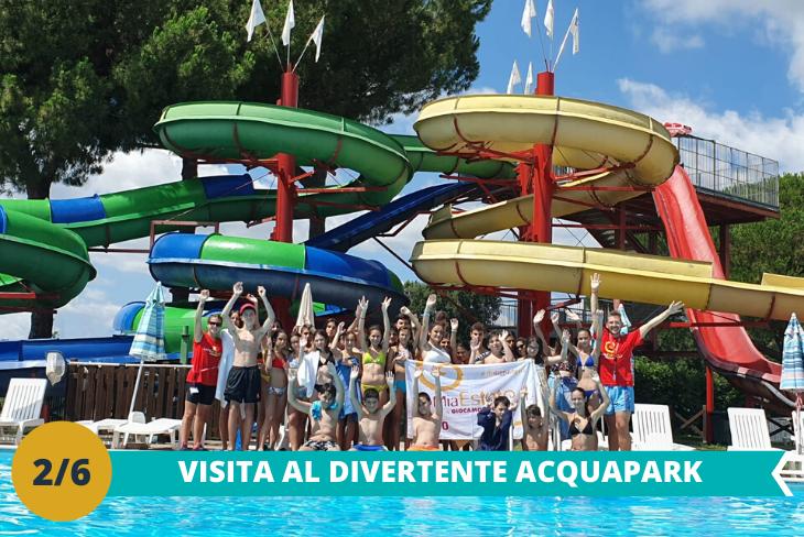 Il fantastico Acqua Park, dove i nostri ospiti avranno la possibilità di divertirsi con numerose attrazioni come scivoli e la fantastica piscina ad onde riscaldata!