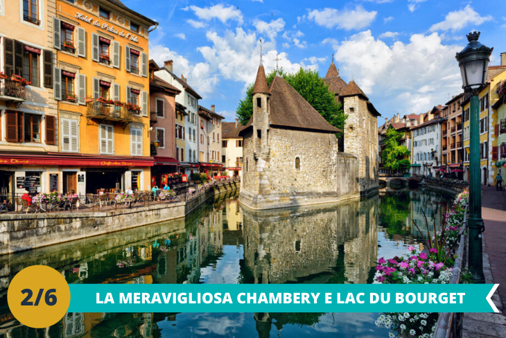 Chambery e l'emozionante Lac du Bourget, dove potersi immergere nella incontaminata natura e godere del panorama mozzafiato sul lago