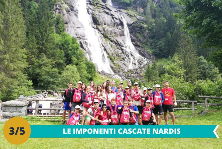 Le Cascate Nardis, tra le più spettacolari delle Dolomiti, situate nel Parco Naturale Adamello Brenta dove entusiasmarsi per la vista mozzafiato