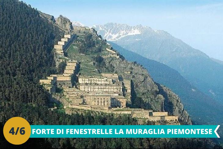 Forte di Fenestrelle, la famosa Grande Muraglia Piemontese, una fortezza definita da molti un gigante in muratura dove i ragazzi conosceranno il fascino delle antiche fortificazioni