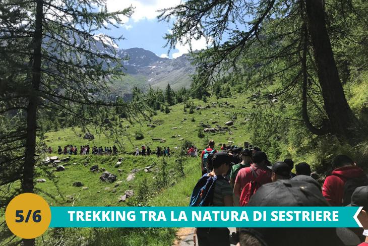 Escursione trekking tra le Alpi,fino a raggiungere la Diga del Chisonetto