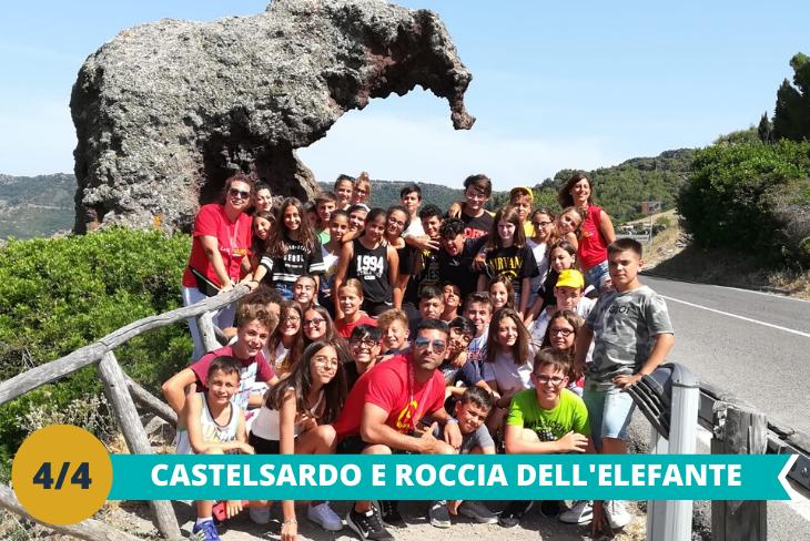 Castelsardo e Roccia dell'Elefante: dove visiteremo il meraviglioso Castello Medievale e potremo ammirare la famosa Roccia dell'Elefante, un enorme masso che assomiglia ad un elefante per la sua conformazione
