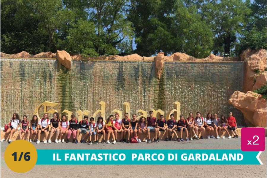 Il fantastico parco Gardaland:una intera giornata dove i ragazzi potranno divertirsi tra le numeroseattrazioni ed i tantissimi giochi presenti all'interno del parco